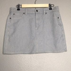TWO by Vince Camuto Stripped Denim Skirt